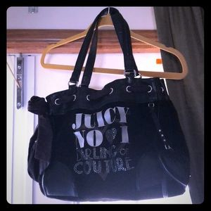 NWOT JUICY COUTURE BLACK PURSE W/ BLING & EXTRAS